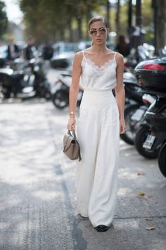 Ann Kathrin Broemmel seen in the streets during the Paris Fashion Week on September 26 2017 in Paris France