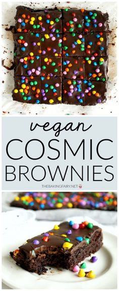 Vegan Homemade Cosmic Brownies - Health Effects The Whole . - Vegan Homemade Cosmic Brownies – Health Effects The health effects of a vegetarian diet depend on - Desserts Végétaliens, Desserts Sains, Healthy Dessert Recipes, Vegan Recipes, Vegetarian Desserts, Easy Recipes, Recipes For Sweets, Best Vegan Desserts, Health Desserts