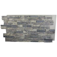 Superior Building Supplies Rustic Lodge 24 in. x 48 in. Faux Grand Heritage Stack Stone Panel at The Home Depot - Mobile Stone Veneer Siding, Stone Veneer Panels, Stone Cladding, Stacked Stone Panels, Faux Stone Panels, Home Depot, Slate Wall Tiles, Exterior Colors, House Painting