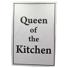 Geschirrtuch Queen of the kitchen Tea Towel; 49 x 70 cm; mit Aufhänger; 100% Baumwolle; waschbar bei 30°C