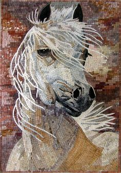 This impressionistic White Horse will add an exclusive accent and a synchronous classy character to your home decor that will always meet and express your personal taste! This mosaic pattern is fully handmade using creamy natural tone, exhibiting a rich artistic aesthetic and establish a refined style throughout the decor, obviously guaranteeing supreme quality., Get it now for $535.