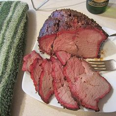Smoked Sweet Sirloin Tip Roast by melody