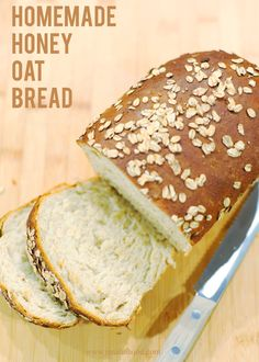 Homemade Honey Oat Bread #bread