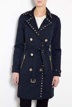 Studded Belted Trench Coat by Michael Michael Kors