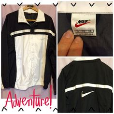 NIKE BLACK & WHITE ZIP UP ATHLETIC JACKET Perfect Nike athletic jacket! This jacket zips up the front & also has snaps to close. Nice deep pockets too.-see pic #2. Front has a white panel w/Nike swoosh on the chest & the shoulders/sides are black. The back is all black-see pic #3, w/a large black Nike Swoosh in the middle of the back. This is a really nice Nike jacket in perfect condition & not one to be missed! Nike Jackets & Coats Performance Jackets