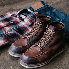 - 3sixteen shaggy flannel - 3sixteen st100xk - Red Wing 1907 boots @marvaments continues to slay...love his take #flannel #redwing #redwingheritage #boots #3sixteen #rugged
