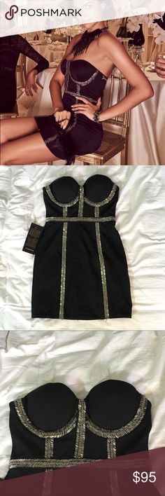 Bebe LBD SEXY Black Dress NWT XS FIRM PRICE This is the dress you want to wear when you want to be seen! HOT! New with tags. Perfect condition. bebe Dresses Mini