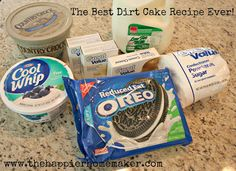 What to know how to make dirt cake? This easy OREO Dirt Cake recipe is a classic dessert recipe that can be made in just 15 minutes! Easy Oreo Dirt Cake Recipe, Dirt Cake Recipes, Pudding Recipes, Dessert Recipes, Easy Dirt Pudding Recipe, Pie Recipes, Yummy Recipes, Recipies, Dinner Recipes