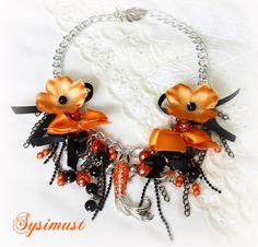 Halloween jewelry... but I'd wear it all autumn long!