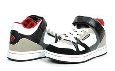Dream Pairs GLY9297 Boy's Athletic Velcro Strap Light Weight Running High Top Sneakers Shoes Black-White-Red Size 13 - http://all-shoes-online.com/dream-pairs/13-m-us-little-kid-dream-pairs-gly4108-gly9297-boys-37