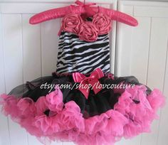 Fluffy Full Pink and Zebra Pettiskirt Accented with by LovCouture, $70.00