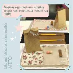 Kits para o Workshop Terapia feitos com muito afeto! Um diferente do outro, porque amamos peças únicas e autorais.