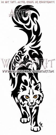 Amore Cat Tribal Design by WildSpiritWolf.deviantart.com on @deviantART