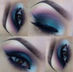 Peacock colored eyeshadow