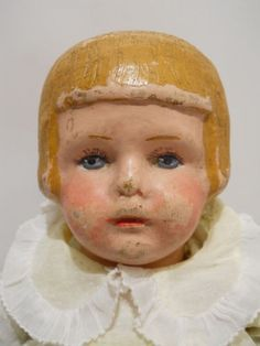 wooden doll - Sooo well loved...