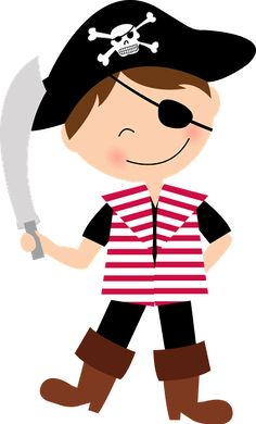 pirate girls clip art set girls clips clip art and etsy rh pinterest com pirate clip art images pirate clipart black and white