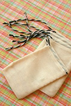 Unbleached BLANK Muslin Bags - 4 x 6 - for Stamping - Gift Bags, Packaging - set of 50. $17.25, via Etsy.