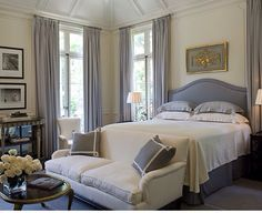 Classic & timeless traditional master bedroom.