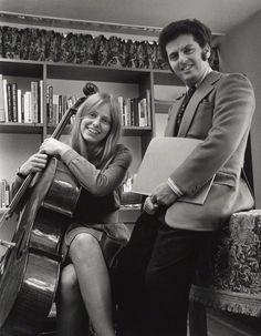 Jacqueline du Pré; Daniel Barenboim, by Clive Barda, circa 1972