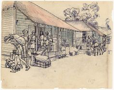 Japanese occupation in Indonesia internment camp drawing | Flickr - Photo Sharing!