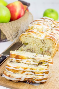 Stuffed with cinnamon, apples and pecans, this Maple Glazed Apple Pecan Bread is the perfect way to celebrate the arrival of apple season!