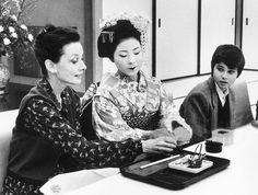 Audrey Hepburn and son in Japan,Mach-April 1983