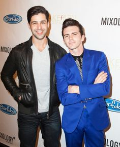 Photo of Josh Peck & his friend actor  Drake Bell - Los Angeles