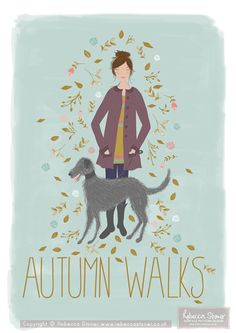 """Autumn Walks"" Illustration by Rebecca Stoner www.rebeccastoner.co.uk"