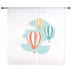 Shop Hot Air Balloon Curtains designed by ConcordCollections. Lots of different size and color combinations to choose from. Balloon Curtains, Expecting Baby, Curtain Designs, Hot Air Balloon, Color Combinations, Balloons, Nursery Ideas, Unisex, Home Decor