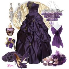 Masquerade party this Friday... Could I pull this look off with my navy blue gown? Hmmm.... #gown #masquerade #fashion #purple