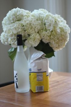 Use vodka to prolong the life of your flowers! Just add a capful of vodka to the water and it will keep bacteria away from the cut stems. Add a pinch of sugar, too, and it will nourish the flowers as well as store-bought flower food.
