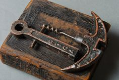 Vintage metal corkscrew stylized as anchor. Vintage Wine, Vintage Metal, Weird Gifts, Wine Bottle Opener, Old Tools, Wine Parties, Italian Wine, Wine Cellar, Decorative Accessories