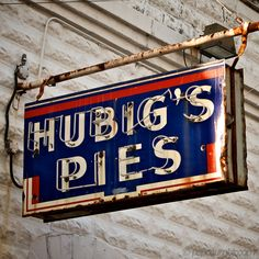 "Hubig's Pies! Located in the Faubourg Marigny neighborhood of New Orleans just east of the historic French Quarter, the Simon Hubig Pie Company bakes all of their products daily, as in Hubig's original plant. Fresh, local ingredients are used. And ""Savory Simon"" is memorialized in the company logo. Fire destroyed the Hubig's factory on July 27, 2012."
