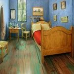 "The Art Institute of Chicago Recreates Van Gogh's Famous Bedroom to be Rented on Airbnb. In association with exhibition of ""Van Gogh's Bedrooms"" thru May 10, 2016."