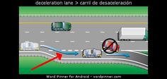 deceleration lane > carril de desaceleración