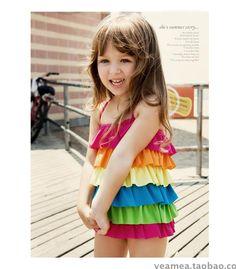 cut little girls bathing suits size 5 | cute one piece swimwear bathing suits for kids one piece kids little ...