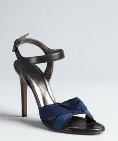 Ashlees Loves: love LANVIN info @ashleesloves.com #Lanvin #Black #Navy #Grosgrain #Ribbon #heeled #sandals #women's #designer #fashion #footwear #shoes #style #Love