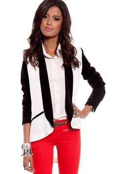 black and white blazer? Thank you very much