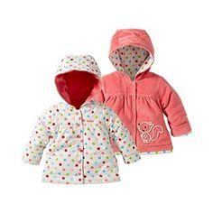 Hochwertige Wendejacke für Babys in aktuellem Design mit Kapuze aus weichem…