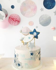 Galaxy Party cake - Kindergeburtstage - Galaxy Party cake Best Picture For space buns For Your Taste You are looking for something, and i - Baby Boy 1st Birthday Party, 2nd Birthday Party Themes, First Birthday Parties, First Birthdays, Birthday Ideas, Astronaut Party, Outer Space Party, Moon Party, Un Cake