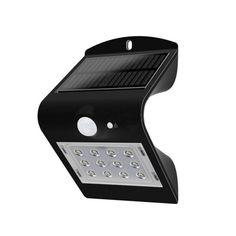 LED solárne nástenné svietidlo v čiernej farbe, Denná biela, Caravan, Camping Bedarf, Spot Led, Lumiere Led, Modern, Phone, Shopping, Gas Detector, Motion Detector