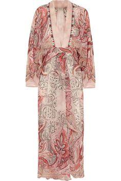 Multicolored silk-crepe Concealed zip fastening along side 100% silk Dry clean Designer color: Red