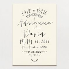 A Printable Press - Modern Calligraphy Save the Date