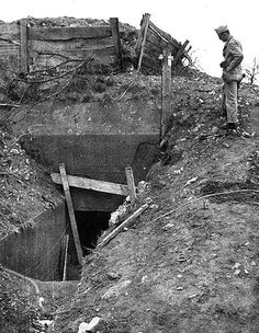 OM-B - Navy officer inspects German fortifications, Omaha Beach (bunker) D Day Normandy, Normandy France, Bunker Hill Monument, Doomsday Bunker, D Day Invasion, Normandy Invasion, Picture Story, Military History, World War Two