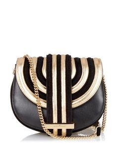 Rosetta suede and leather shoulder bag  | Salvatore Ferragamo | MATCHESFASHION.COM