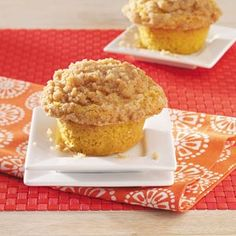 Isaiah's Pumpkin Muffins with Crumble Topping Recipe from Taste of Home