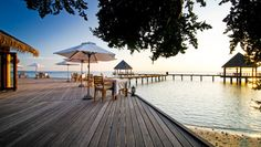 Island Hideaway: After a four-hand massage at the spa, indulge in a cocktail at sunset.