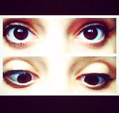 Natural eye make up