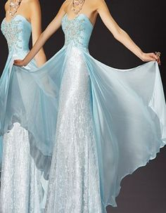 Beautiful soft color, like glacier ice. Love the style as well as the gorgeous color! Would want it white for a wedding