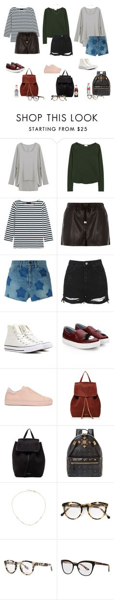"""It's Friday"" by audrey-balt on Polyvore featuring American Vintage, J.Crew, River Island, Yves Saint Laurent, Topshop, Converse, Chiara Ferragni, Axel Arigato, Mansur Gavriel and MCM"